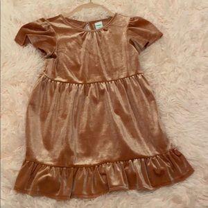 Toddler girl velvet dress